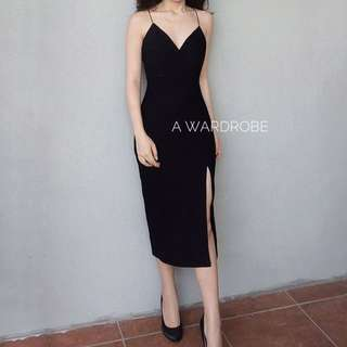 Black Dress Free Size (Fit To S)