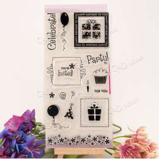 Celebrate party clear stamp