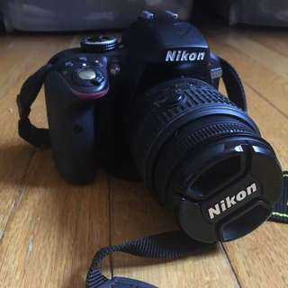 Nikon D3300 + 32g Memory Card, Stand & Case NEW