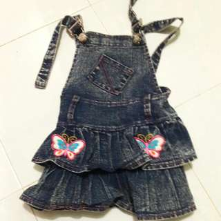 Kids Girls Overall Skirt for 1-2y
