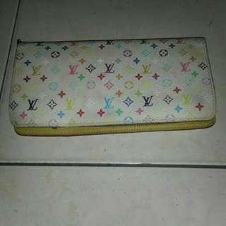 #deepavali50 Authentic Multicolore Monogram White Zippy Long Wallet