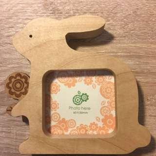 木質小兔相框