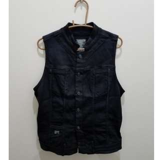 G-STAR RAW Dark Blue Denim Vest - Size L
