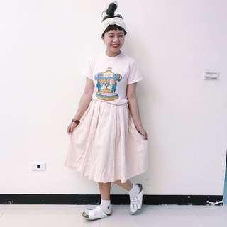 馬戲團TEE / 粉條紋裙