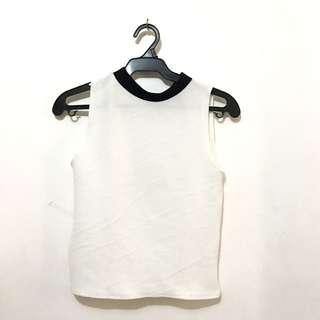 Black White sleeveless Top