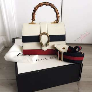 Gucci Dionysus Leather Bamboo Handle Bag H
