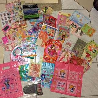少女漫畫附錄 豐富文具摺盒全部一套賣