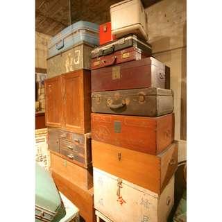 木箱 皮箱 軍箱 行李箱 老台灣 檜木箱