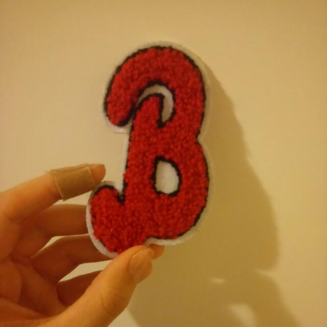 3D B Patch (Sew On)