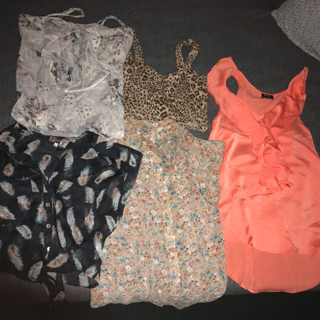 5 Summer Tops Size 6-8 For $5