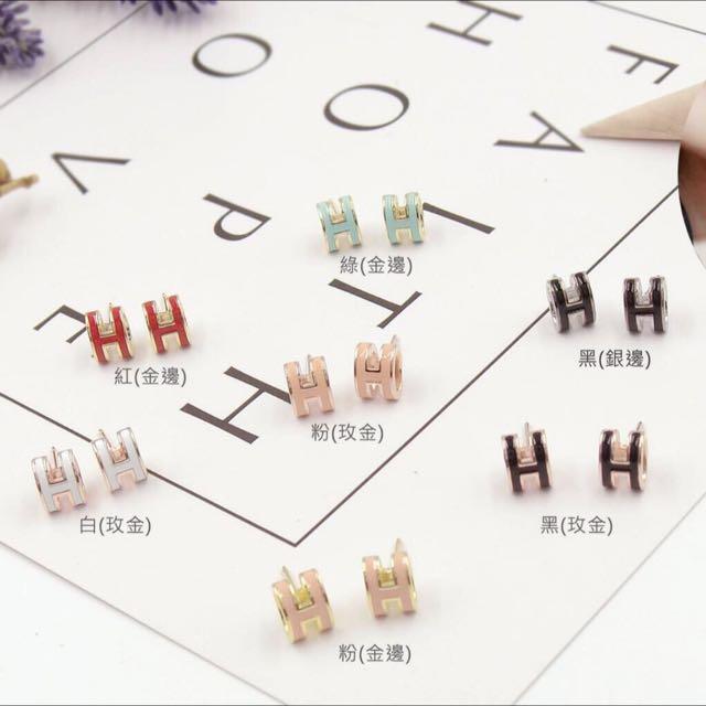 百搭字母設計款耳環