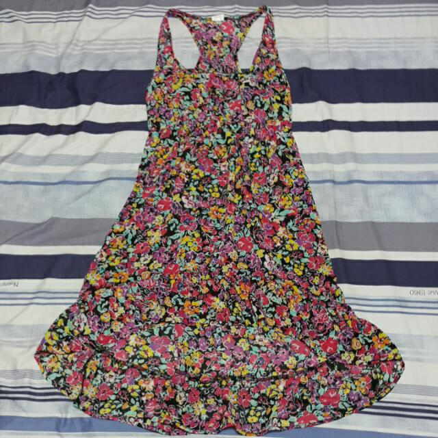 ❤︎就愛二手衣❤小碎花洋裝前短後長