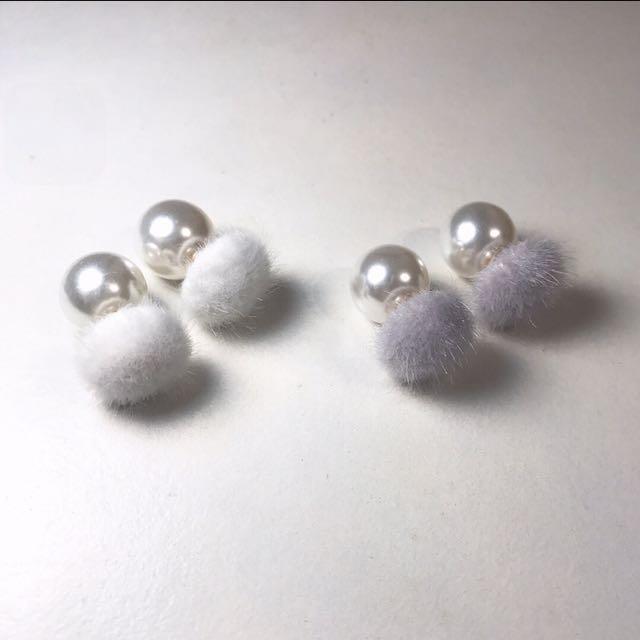 毛球 珍珠 🕯兩種戴法