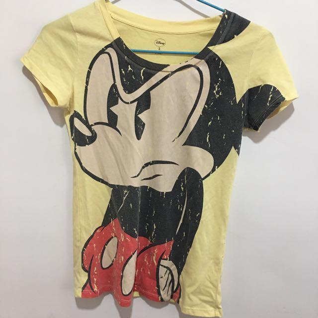 迪士尼 米奇短T 仿舊設計