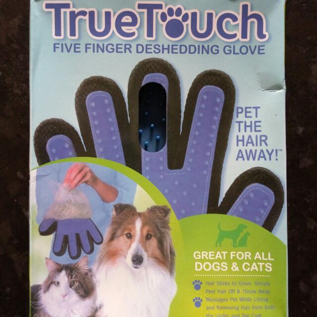 右手 true touch 寵物 按摩梳 梳毛手套 貓咪 狗狗