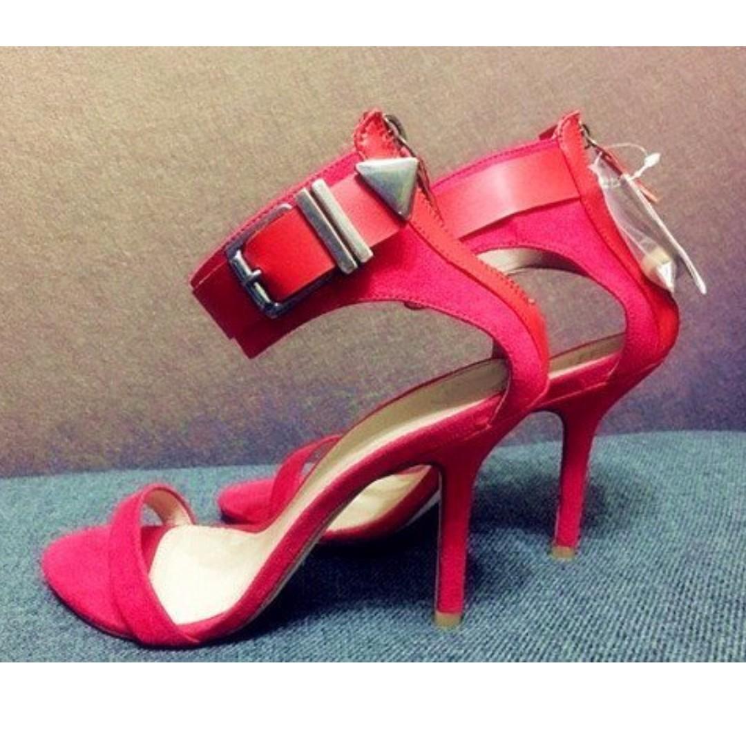 歐美品牌 ZARA 羅馬高跟鞋  ※QD430P10P※