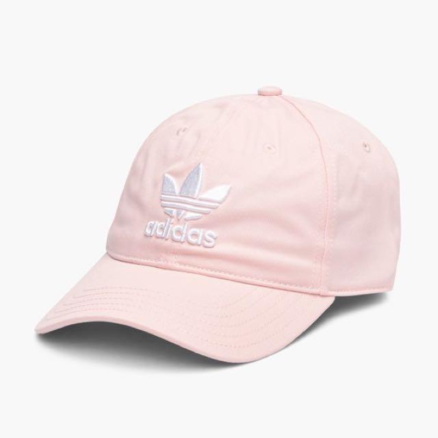 adidas Originals Trefoil Cap 桃粉 裸粉 Lcey Pink 分色 老帽 帽子 三葉草 CF6325
