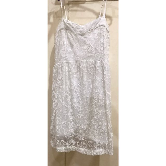 REPRICED: A&F Small white dress