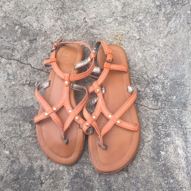 Aldo Tan/orange Sandles