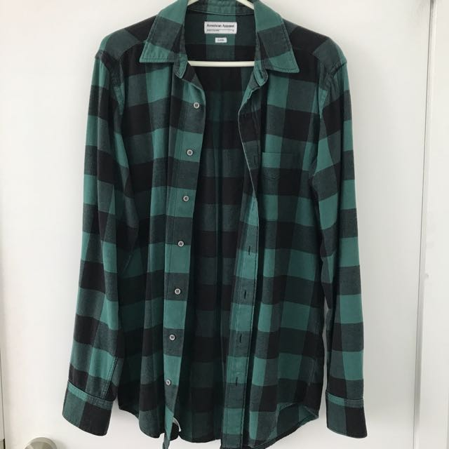 American Apparel Plaid Flannel With Pocket