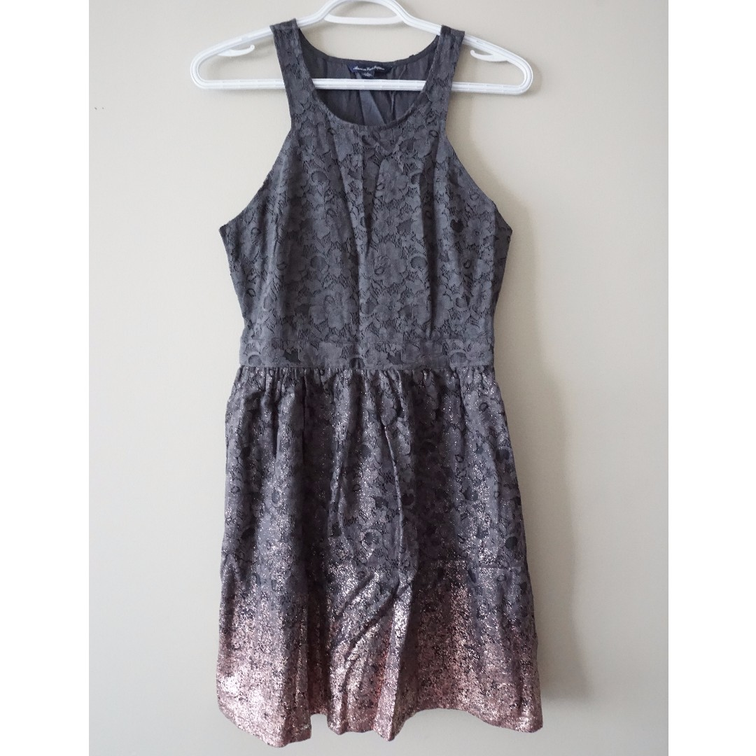 AMERICAN EAGLE OUTFITTERS Grey to Rose Gold Ombre Dress