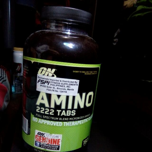 AMINO 2222TABS-(15PHP) PER TABS FULL SPECTRUM BLEND MICRONIZED AMINOS