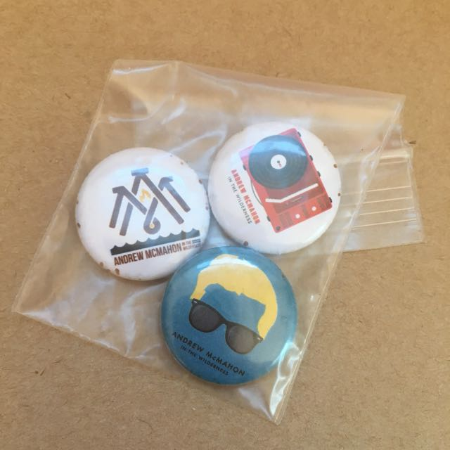 Andrew McMahon In The Wilderness Buttons