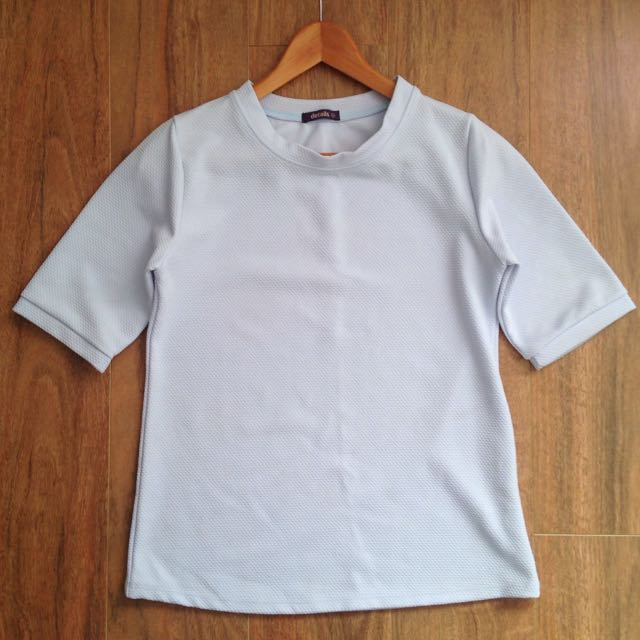 AU10 Light Blue Smock Top