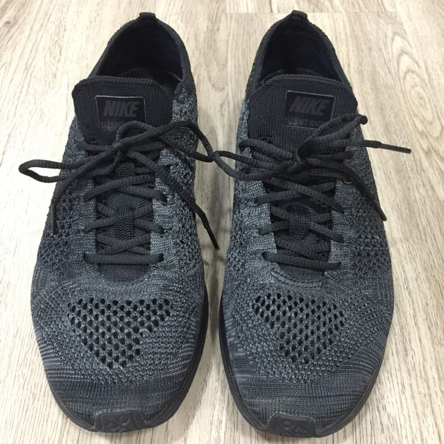 be20a4cc1113 ... aliexpress authentic nike flyknit racer triple black midnight mens  fashion footwear on carousell b5828 00263