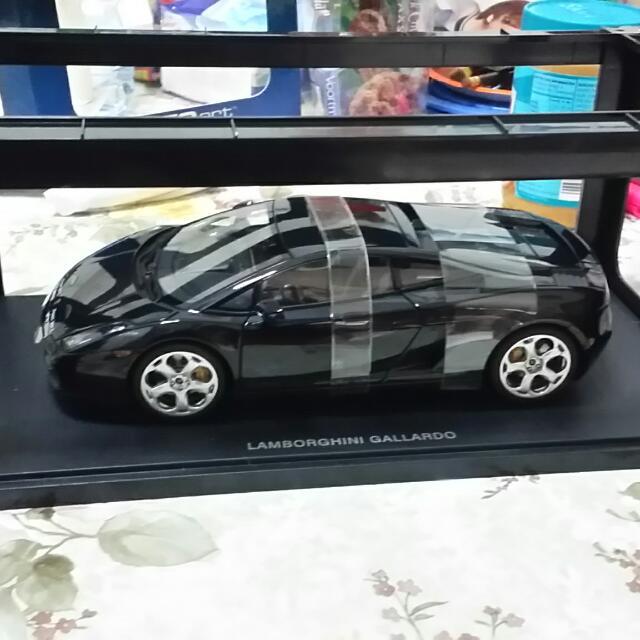 Autoart Lamborghini Gallardo Black 1 18 Toys Games Bricks