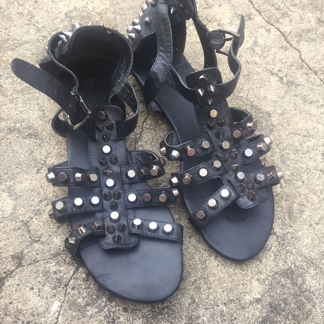 Betts Studded Black Sandal