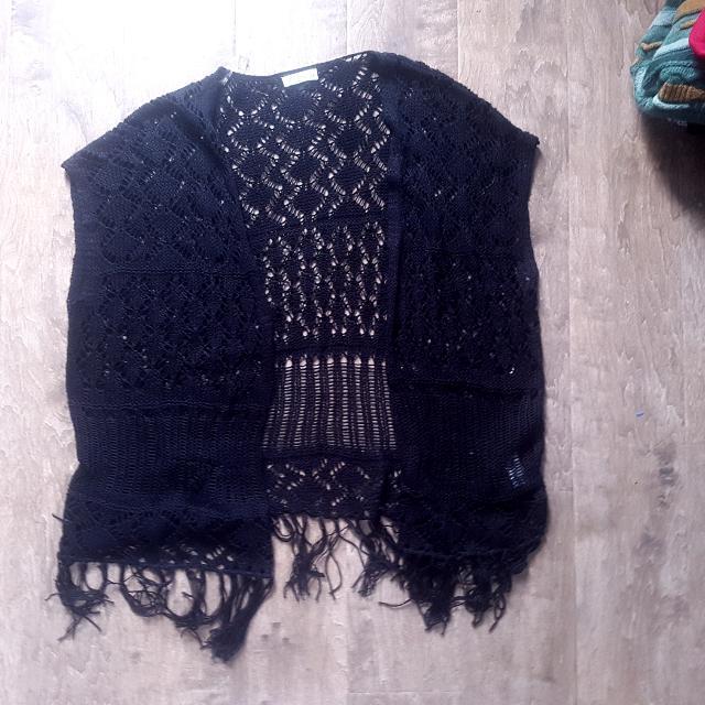 Black Crochet Shawl