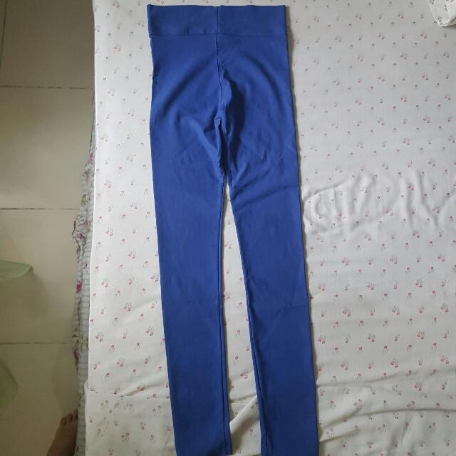 Blue Stretchy Leggings