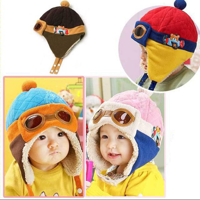 91db36aa6a56 (BN) New Arrival Toddlers Warm Caps Hat Beanie Cool Baby Boy Girl Kids  Infant Winter Pilot Aviator Caps Hats Hot Sale
