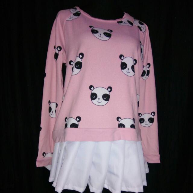 Bundle: Forever21 Panda Shirt Tennis Skirt