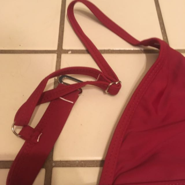 Burgundy Triangle Bathing Suit