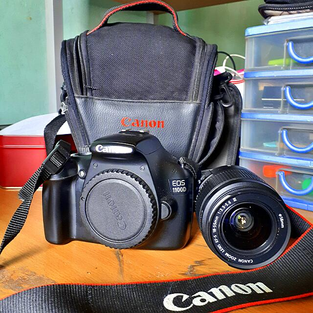 Canon 1100D with Shoulder Strap, Bag, Standard Lens (Negotiable)
