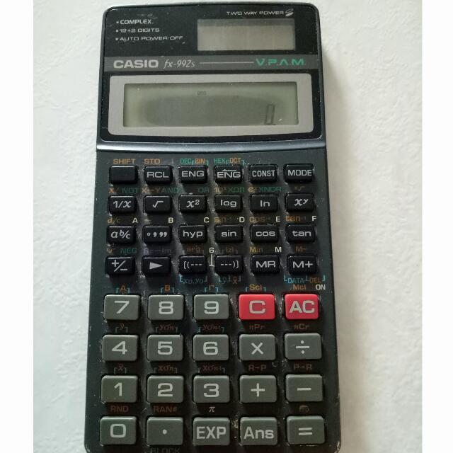 casio scientific calculator fx 992s electronics others on carousell rh sg carousell com