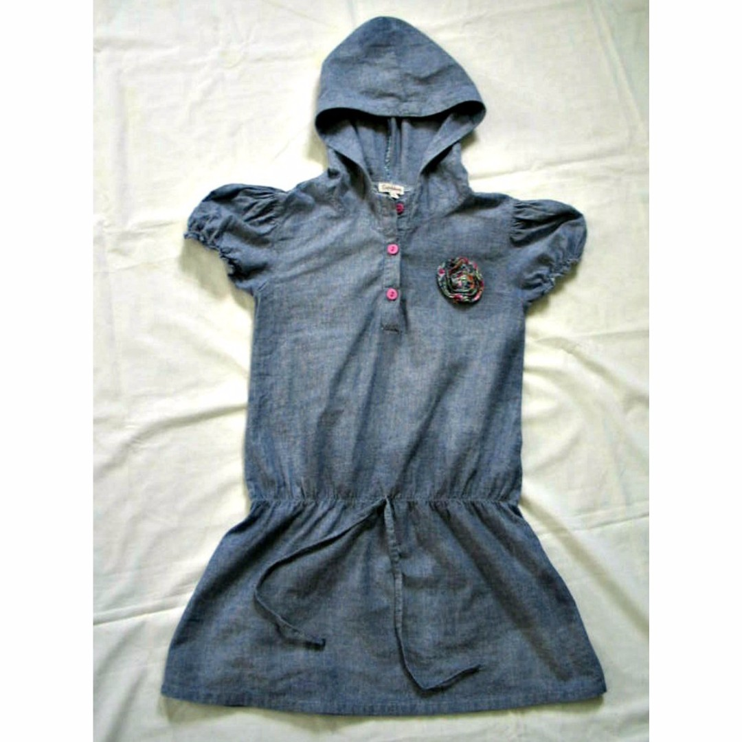 Chambray Tunic Dress for Kids