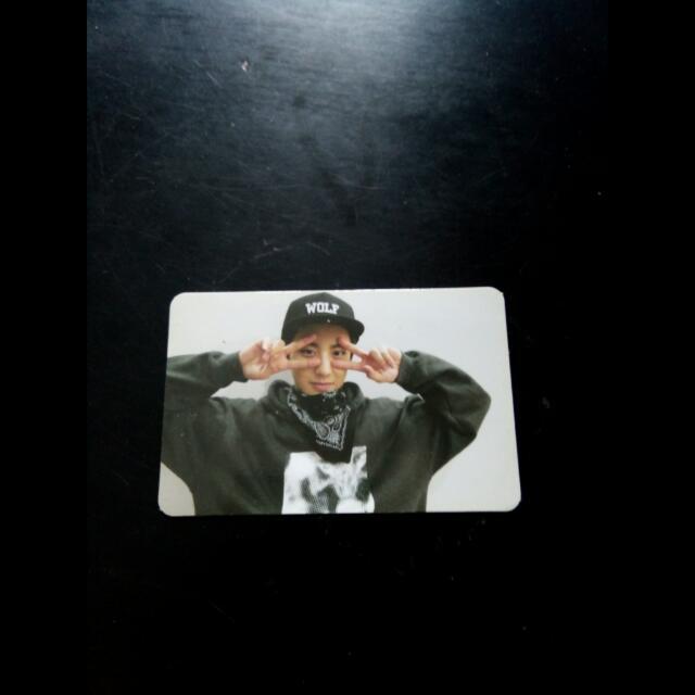 EXO Chanyeol Growl 으르엉 Official Photocard