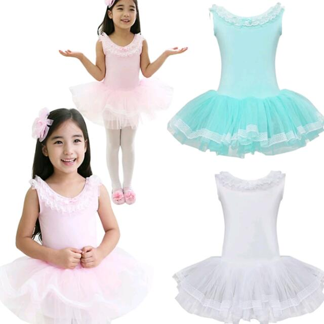 ed77c9eb8 1pc Child Girls Gymnastic Ballet Leotard Tutu Dance Dress Sleeveless ...