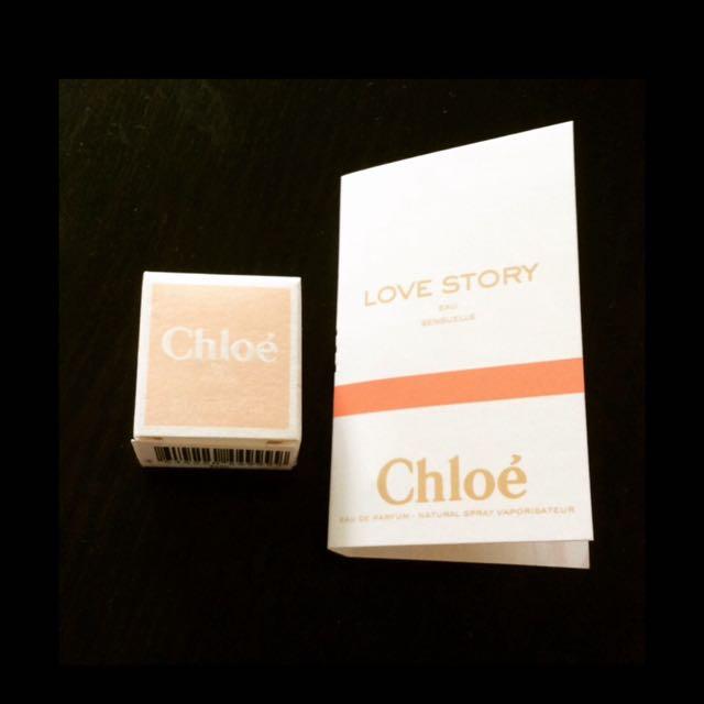 Chloe 白玫瑰 小香 5ml + Love Story 愛情故事日落巴黎女性淡香精 針管1.2ml