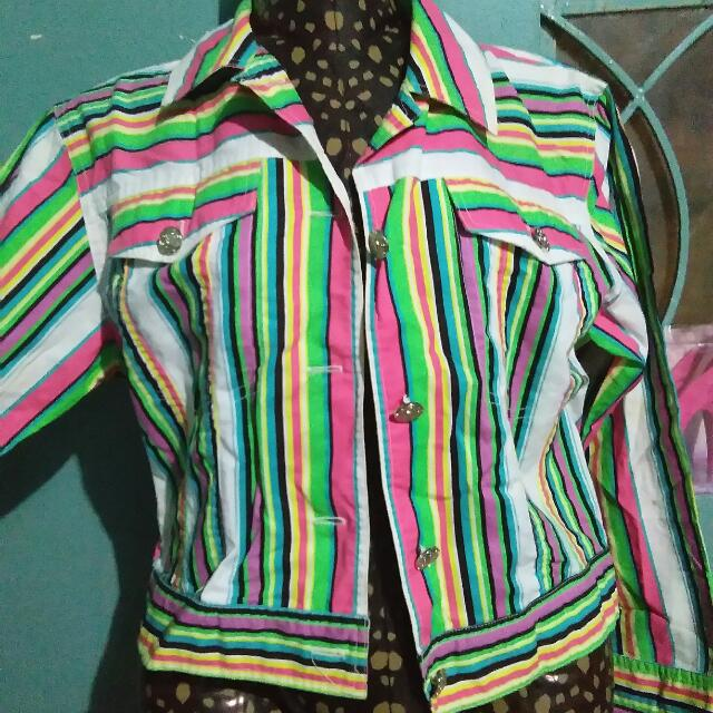 Colorfull Jacket/Blazer with Sleeves