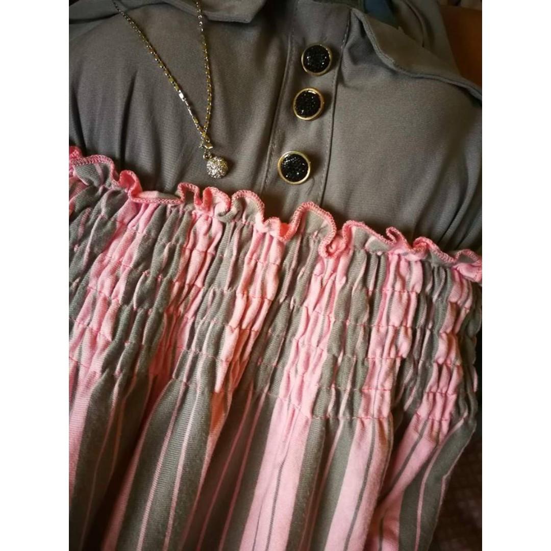Cute Pink-Gray Dress