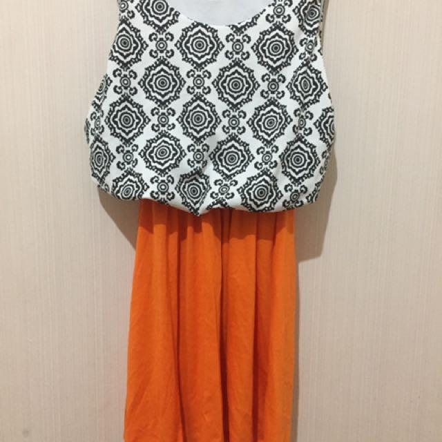 Dress Slim Orange