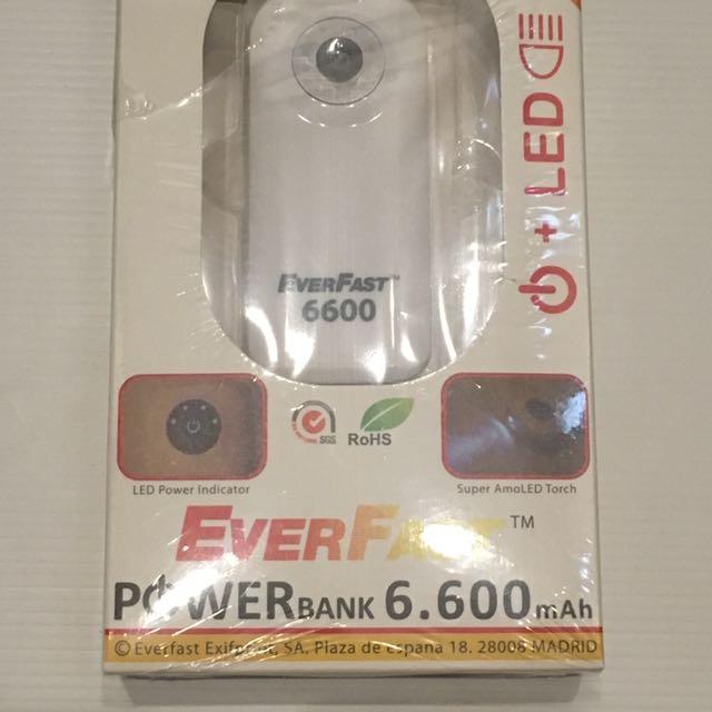 Everfast Powerbank 6.600mAh