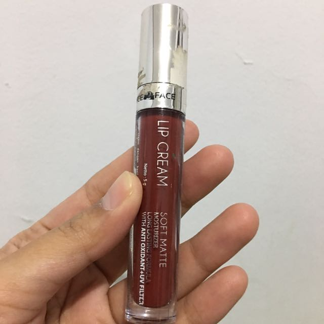 Face2face Lip Cream Matte Maroon Preloved