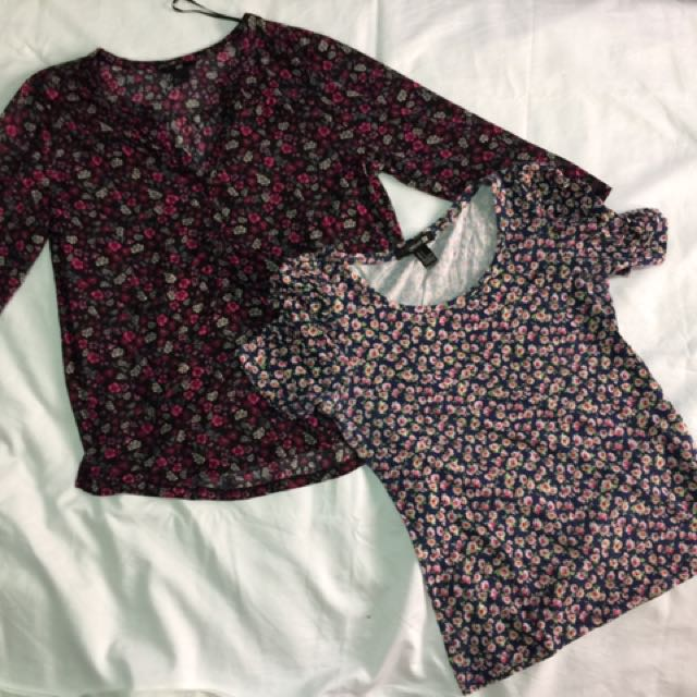 Floral Tops From H&m, Forever 21