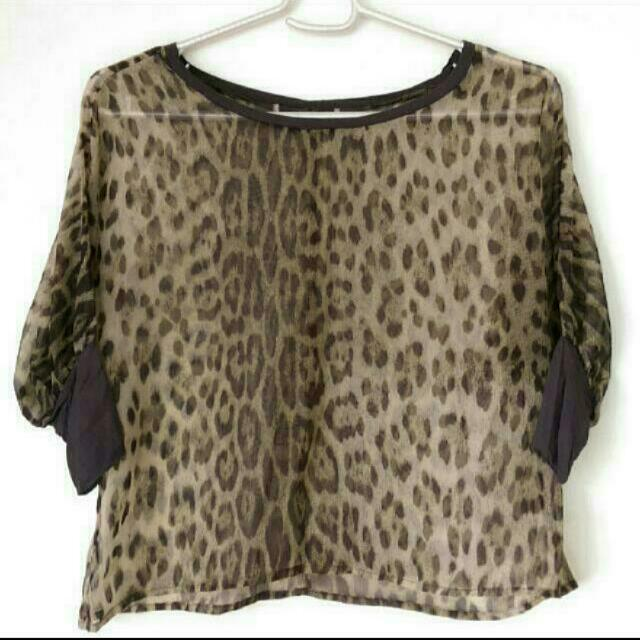 Forever21 Animal Print Top