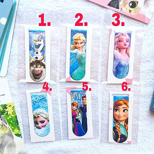 Frozen Magnetic Bookmarks